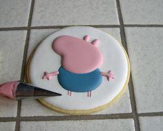 "Biscotti Peppa Pig ""George"" Peppa Pug, Peppa Pig Birthday Cake, Hello Kitty, Goodies, Lily, Biscuits, Calendar, Sweet Like Candy, Crack Crackers"