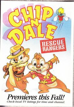 Disney Chip N Dale Rescue Rangers post card NEW