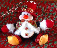 Pinguim de Natal de Feltro com Molde - Como Fazer