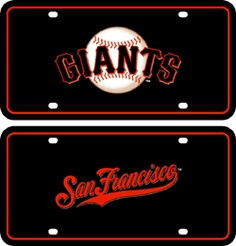 San Francisco Giants Holographic License Plate