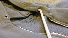 Put the string of your hoodie back into the hood by threading it through a straw. Buzzfeed List of useful clothing hacks.