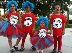 dr seuss thing 1 halloween costume costumes idea Best Picture For dr seuss week decorations For Your 2 Halloween Costumes, Dr Seuss Costumes, Family Costumes, Cool Costumes, Costume Ideas, Team Costumes, Halloween Clothes, Children Costumes, Halloween Outfits
