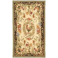 """August Grove Isabella Chicken Novelty Area Rug Rug Size: 2'9"""" x 4'9"""""""