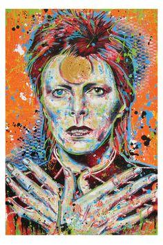 David Bowie  Ziggy Stardust  12 x 18 High Quality Art Print by PointBlankDesign, $20.00