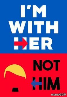 She's an awesome woman.  He's a racist bigot with a YUGE lying mouth!  #HillaryForAmerica