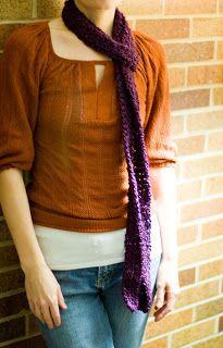Simple Beans: Skinny Scarf Crochet Pattern
