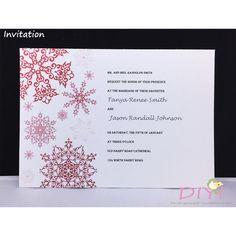 Printable Winter Wedding Invitation/ Snowflake Wedding Invitation/ Christmas Wedding Invitation by DoItYourselfInvites on Etsy