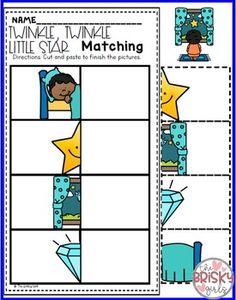 Nursery Rhymes Preschool Twinkle Twinkle Little Star Freebie
