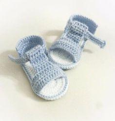 Crochet Baby Shoes Crochet Baby Sandals Crochet Baby Shoes Summer Shoes by NDWear - Crochet Baby Sandals, Crochet Shoes, Crochet Slippers, Baby Boy Shoes, Baby Boots, Crochet For Boys, Crochet Summer, Crochet Bebe, Free Crochet