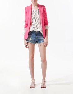 Pink neon blazer