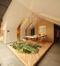 Home Office – Casa FOA 2012 / Nidolab Arquitectura Interior Design Exhibition, Office Interior Design, Office Interiors, Interior And Exterior, Green Architecture, Architecture Design, Recycled Rugs, Cool Office, Home And Deco