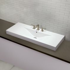 Shop For The DecoLav White Cityview Main Vessel Sink With Single Faucet  Hole And Save.