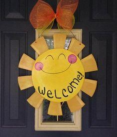 Sun front door decoration