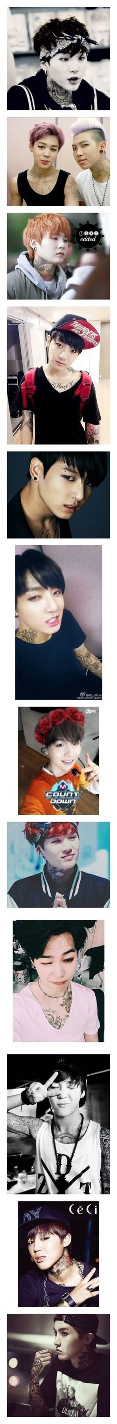 """""""BTS Punk Edits"""" by housexofxcards ❤ liked on Polyvore featuring bts"""