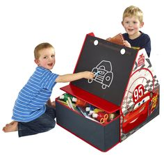VENTA 3 EN 1 CARS. BAÚL, PIZARRA Y REVISTERO INFANTIL. 482CCC01EM, IndalChess.com Tienda de juguetes online y juegos de jardin