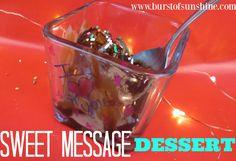 Sweet Message Dessert DIY