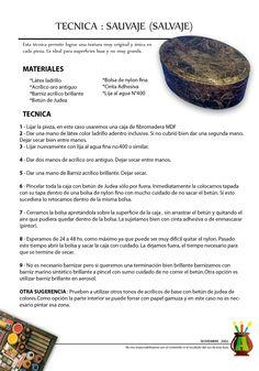 2002/11 - Consejo del Mes - Noviembre 2002 - Técnica : Sauvaje