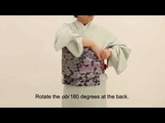 How to Wear a Kimono -Part 4- Tying the fukuro-obi, by wasokan. [background music, with English subtitles]