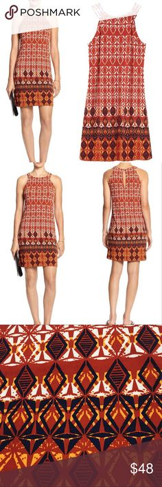 Banana Republic Strappy Halter Dress 🍂 Perfect Fall Colors 🔹Banana Republic Factory Strappy Halter Dress🔹 95% Polyester, 5% Spandex, Machine Wash, Imported. 🔹Triple-Strap Halter neckline🔹 MSRP: $69.99+Tax 🔹 Please no trades or pp. Banana Republic Dresses