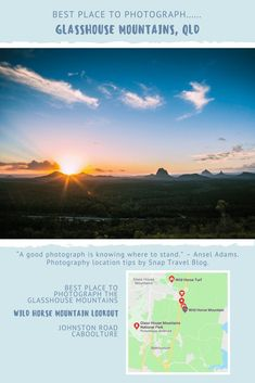 For the best place to photograph the Glasshouse Mountains in Queensland head towards Wild Horse Mountain Lookout in Caboolture. Amazing Destinations, Travel Destinations, Travel Around The World, Around The Worlds, Glasshouse Mountains, Australia Travel, Visit Australia, Western Australia, Good Day Song