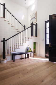 The floors are white oak in Provence in the French connection by Garrison Collection, available through the Hardwood Floors Outlet in Murrieta, California.