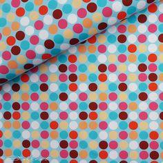 """Stoff Punkte - Jersey """"Happy"""", Polka Dots, türkis, Design: ... - ein Designerstück von Stoffnest bei DaWanda"""