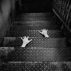 grafika black and white, hands, and black