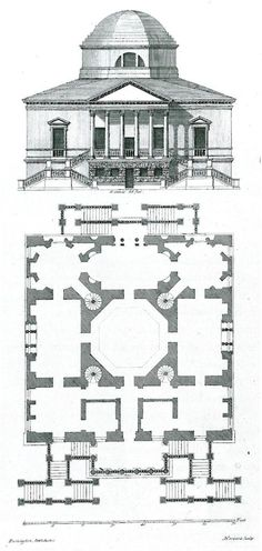 Chiswick House  http://solarhousehistory.com/blog/2013/7/5/solar-orientation-and-historic-buildings