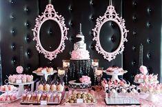 umbrellas lace pink and gray | Além de gostosos os docinhos desse chá são incrivelmente lindos ...