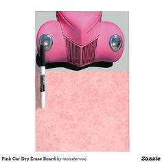 Pink Car Dry Erase Board #Pink #Car #Classic #DryEraseBoard #WhiteBoard