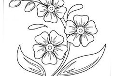 Hand Embroidery Patterns Free, Embroidery Flowers Pattern, Flower Patterns, Easy Flower Drawings, Flower Art Drawing, Art Floral, Printable Flower Coloring Pages, Flower Colouring Pages, Mandala Coloring