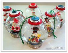 Snow globe ornaments ~~ by Regina Lord