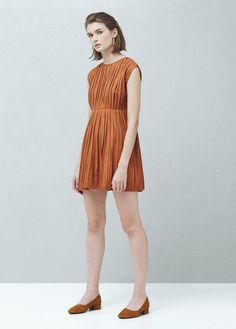Pleated dress   MANGO