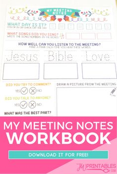 My Meeting Notes Workbook For Kids | JW Printables