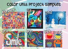 6-Lesson Vertical Elementary Art Color Unit