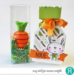 Reverse Confetti Treat Tubes, Hippity Hoppity, Two Way Stripe Tag Layer, Alphabetical by Amy Rohl. #reversecconfetti #easter