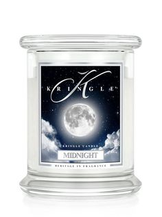 Kringle Candle - MIDNIGHT  Medium  2 Wick -We've brought together a sensual swirl of leather, woods, amber and moss to create a distinct and classically masculine fragrance