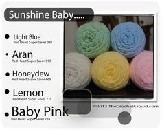 Red Heart Super Saver Color Mix: Sunshine Baby