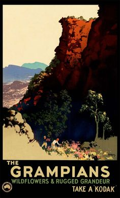 Vintage Poster Love - Grampians by James Northfield - http://www.australianvintageposters.com.au/shop/grampians-by-james-northfield/