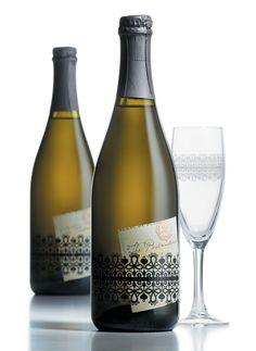 Shrink sleeve design for glass bottles.  #etiquette #bouteille #shrink #sleeves #bottle #labels