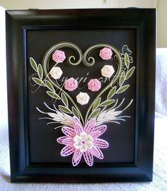 Ayani art: Quilling in Pink and Green