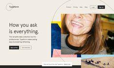 Inspirujące strony internetowe - Typeform