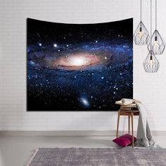 Universe Space Panoramic Andromeda Galaxy Tapestry Home Living Room Decor Stairs In Living Room, Living Room Carpet, Living Room Decor, Bedroom Decor, Living Rooms, Bedroom Ideas, Dorm Room Art, Dorm Rooms, Space Theme