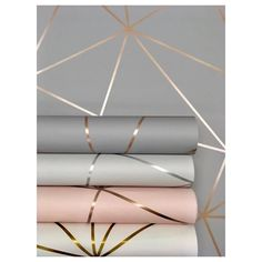 Zara Shimmer Metallic Wallpaper Charcoal, Copper (ILW980112)