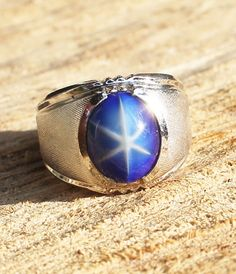 Vintage Men's Star Sapphire Ring Gold by Gener8tionsCre8tions, $70.00
