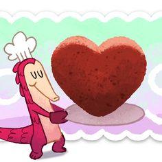 Cute Valentine Google Doodle Art 2017.