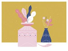 Vase of Flowers  by MUTI #Design Popular #Dribbble #shots