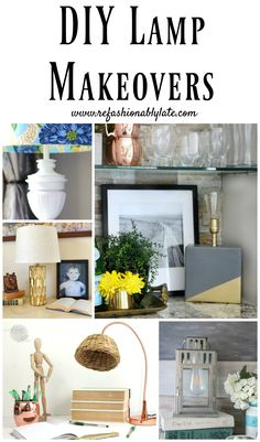 DIY Lamp Makeovers w