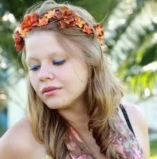 tiara flores cabelo