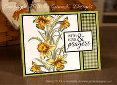 Daffodil Love Card- Spectrum Noir Coloring